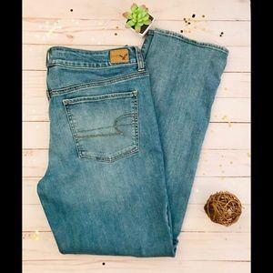 American Eagle Wash Blue ,Straight Jean/14 Regular